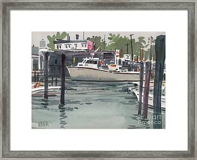 Shark River Inlet Framed Print by Donald Maier