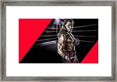 Shawn Michaels Wrestling Collection Framed Print by Marvin Blaine
