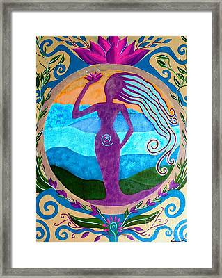 She Heals Framed Print