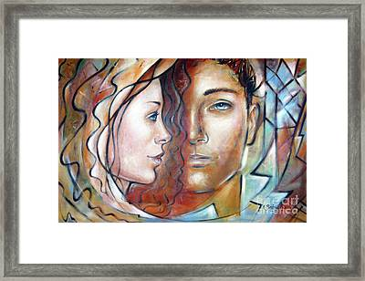 She Loves Me 140709 Framed Print