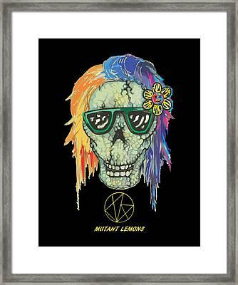Skully Framed Print by Jordan Kotter