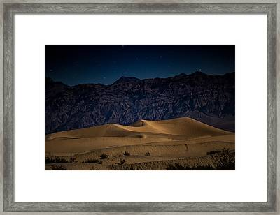 She Sleeps Under The Stars Framed Print by Peter Tellone