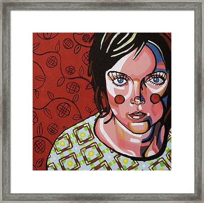 She With The Blue Eyes Framed Print by Rob Tokarz
