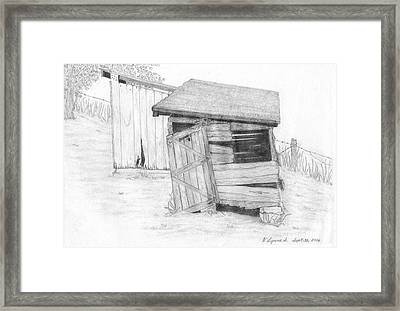 Shed And Wpa Outhouse On Johnson Farm Framed Print by Tree Whisper Art - DLynneS