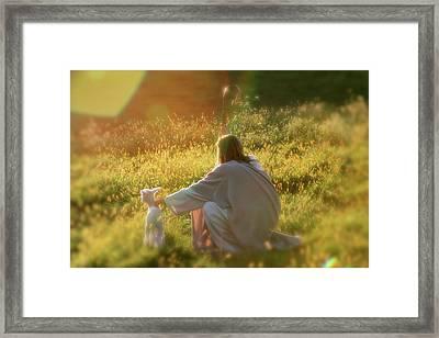 Shepherd Framed Print by Vienne Rea