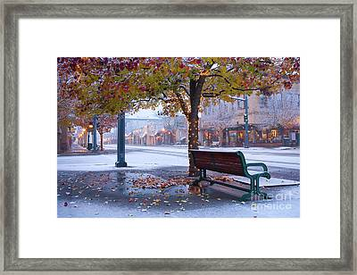 Sherman Snow Framed Print