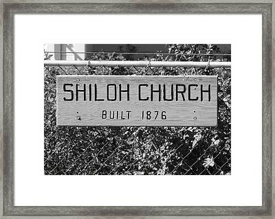 Shiloh Church Sign Birds Landing Ca Framed Print by Troy Montemayor