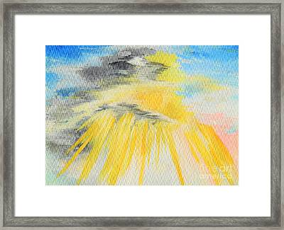 Shining Through The Heaviness Framed Print by Louise Drake