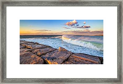Shinnecock Inlet Surf Framed Print