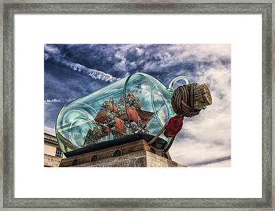 Ship In A Bottle Framed Print