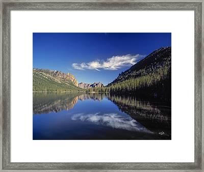 Ship Island Lake Framed Print by Leland D Howard