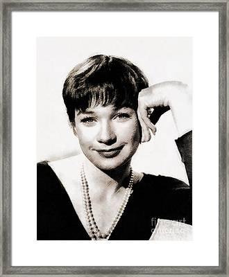 Shirley Maclaine By John Springfield Framed Print