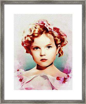Shirley Temple, Vintage Hollywood Actress Framed Print