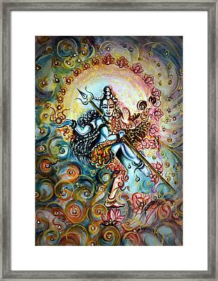 Shiva Shakti Framed Print by Harsh Malik