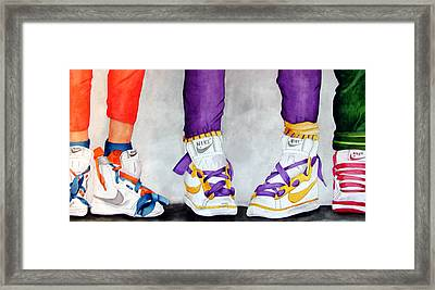 Shooze Framed Print by Anna Lohse