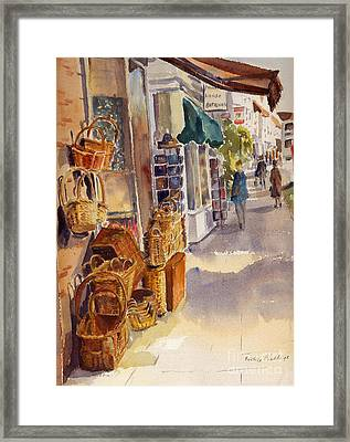 Framed Print featuring the painting Shopping In Tenterden by Beatrice Cloake