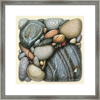 Shore Stones 3 Framed Print by JQ Licensing
