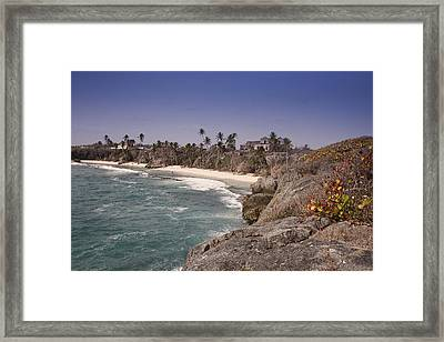 Shores Of Barbados Framed Print by Andrew Soundarajan