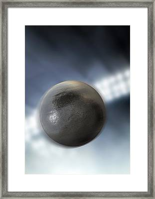 Shotput In Night Stadium Framed Print