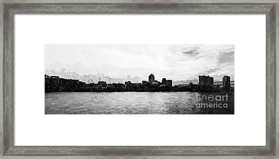Shreveport Pano - Bw Framed Print