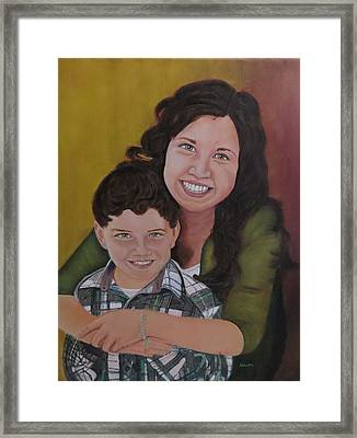 Siblings Framed Print by Sharon Schultz