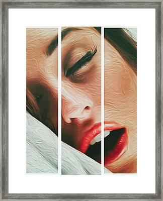 Side Kiss- Framed Print