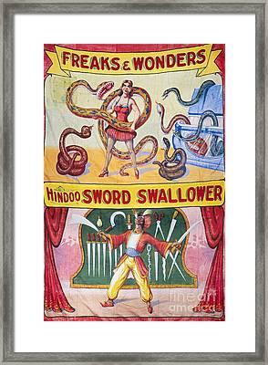 Sideshow Poster, C1975 Framed Print by Granger