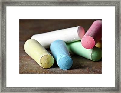 Sidewalk Chalk I Framed Print by Tom Mc Nemar