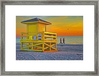 Siesta Key Sunset Framed Print by Dennis Cox WorldViews