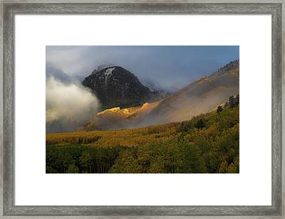 Framed Print featuring the photograph Siever's Mountain by Steve Stuller
