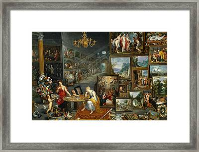 Sight And Smell Framed Print by Jan Brueghel the Elder