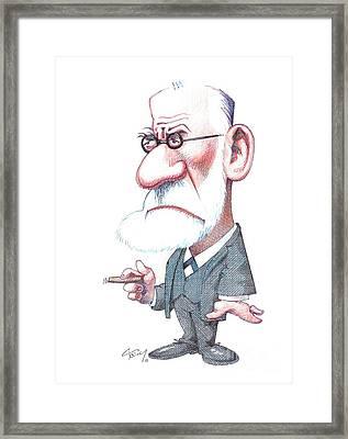 Sigmund Freud, Caricature Framed Print