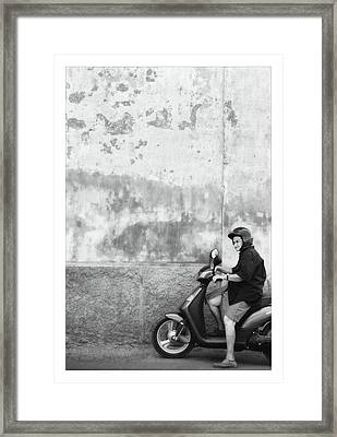 Signora Black And White Framed Print by Marco Hietberg