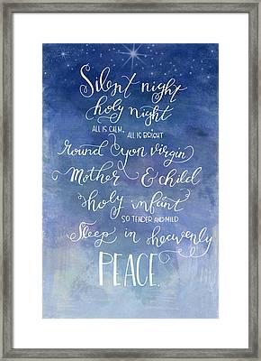 Silent Night Holy Night Framed Print by Nancy Ingersoll