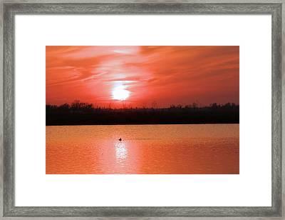 Silky Sunset Framed Print