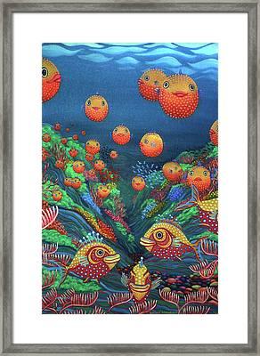 Sillyfish 2 Framed Print by Barbara Stirrup