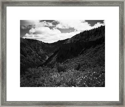 Silver Star Mountain Framed Print by Benjamin Garvey
