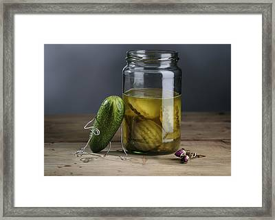 Simple Things - Mourning Framed Print by Nailia Schwarz