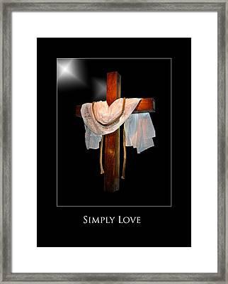 Simply Love Framed Print by Richard Gordon