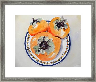 Simply Persimmons Framed Print