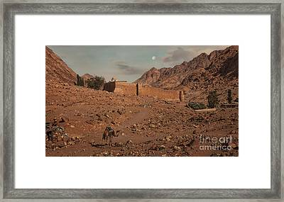 Sinai Mountains View Of The Monastery Of St. Catherine Framed Print