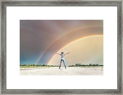 Sing Me A Rainbow Framed Print