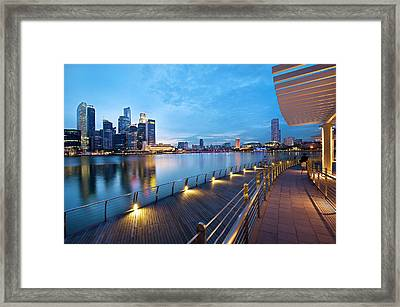 Singapore - Marina Bay Framed Print