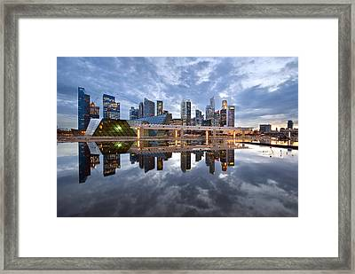 Singapore Cityscape Framed Print by Ng Hock How