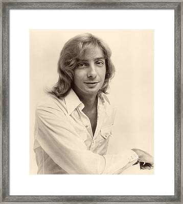 Singer Barry Manilow 1975 Framed Print