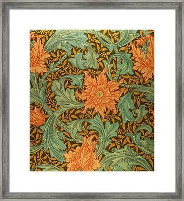 Single Stem Pattern Framed Print