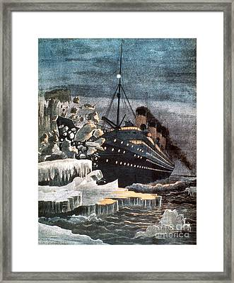 Sinking Of The Titanic Framed Print by Granger
