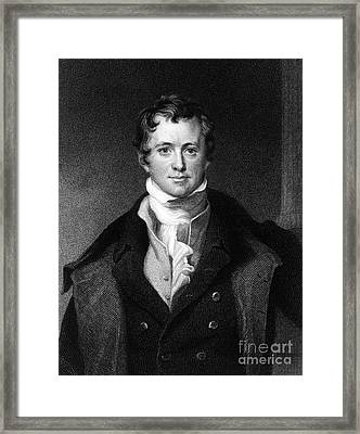 Sir Humphry Davy, English Chemist Framed Print by Middle Temple Library