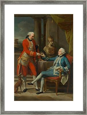 Sir Sampson Gideon And An Unidentified Companion Framed Print