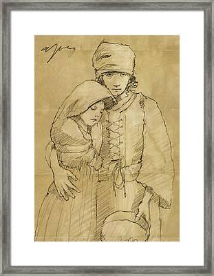 Sister Framed Print by H James Hoff